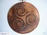 Triskele Celtic Copper Art 70 mm