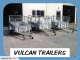 TRAILER VULCAN 8X4FT CAGED TILT