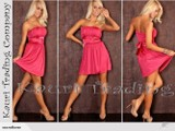 10873 Gorgeous Strapless Belted Party Dress- Coral