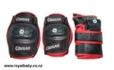 Cougar Sports Protector Set-Red/Black (S)