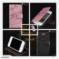 Iphone 4 4S Side Flip Stand Wallet Case Cover