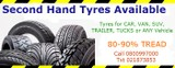 Cheap Second Hand or Used Tyres -Starting from $25