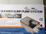 Shower sump pump 24V