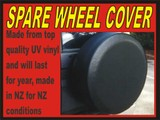 Spare Wheel Cover (NEW) Plain black multy fit