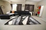 Worldwide Tornado Grey Wave Shaggy rug 2.3x1.6m