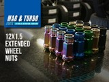 Extended Steel Wheel Nuts! -- Choose Your Colour!