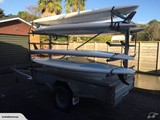 12 Board Single Axle Commercial Trailer