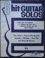 6 HIT GUITAR SOLOS MUSIC BOOK Twist Wheels Apache