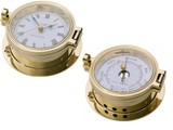 Royal Mariner® Seiko brass clock & barometer