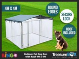 Chicken Run Kennels 4x4x1.8m *ROOF INCLUDED