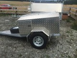 Aluminium box trailer.