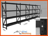 2000KG Garage Storage Shelving Matt Black 5.85m x 2.0m x 0.5m