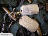DOG TAGS Embossed Military type dogtags