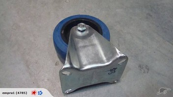 """4"""" Blue Fixed Casters"""