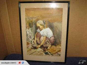 Awesome Woman Cooking by MP Shuitz retro