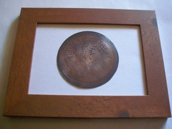 Celtic Copper Etching-Tree of Life