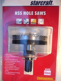 65mm PRECISION TRADE QAULITY HOLESAW FOR METAL SHEET C/W ARBOR - BRAND NEW
