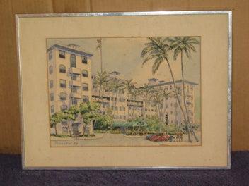 PIMENTAL '82 Painting Penninsular Hotel Hong Kong?