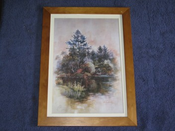 Val Tubman signed numbered print 213/500 Pond & B