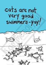 GOODBYE KITTY CARDS: Not Good Swimmers