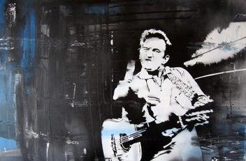 Johnny Cash Art Print -NZ Artist