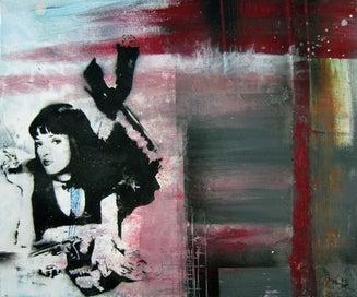Mia Wallace (Pulp Fiction) A3 Art Print -NZ Artist