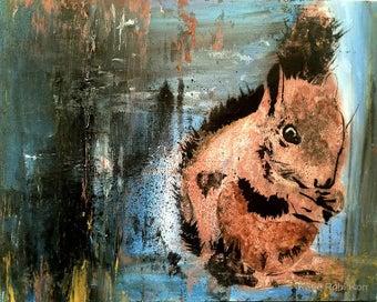It's a Squirrel! Art A3 Print -NZ Artist
