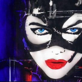 Cat Woman - Batman A3 Art Print -NZ Artist