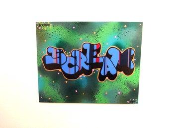 Graffiti art painting by Scream