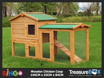 Chicken Coop Rabbit Hutch Wooden House 1.4M