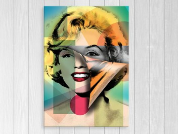 Canvas Print - Marilyn Monroe - Pop Art - Abstract Art - Art Prints - A3