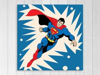 Canvas Print - Superman - Pop Art - Kids Art - Superhero - Art Prints - Square