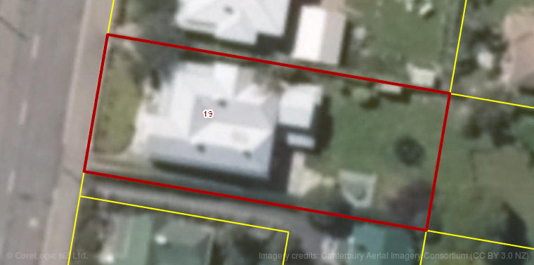 Aerial property boundary image