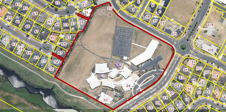 Aerial property boundary image