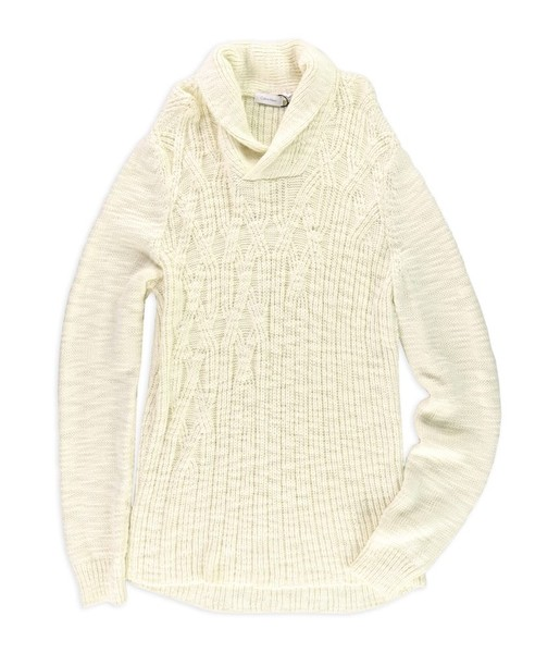 2ead031e4ff Calvin Klein Mens Cable Knit Pullover Sweater
