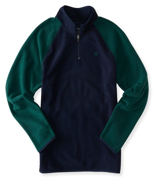 f7f6d579e7 Aeropostale Mens Poly 1/4 Zip Fleece Jacket
