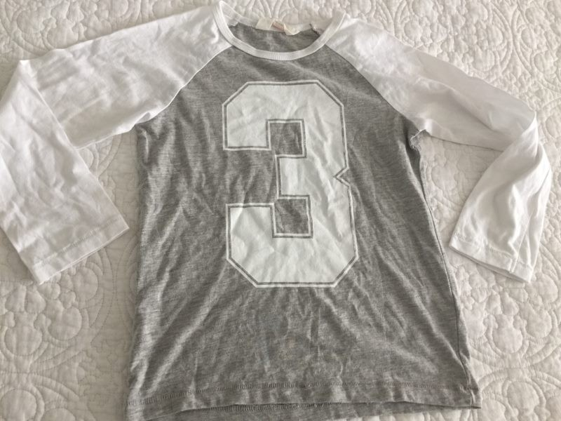 bb708addacbffb H&M Grey and White Long Sleeve Top Size 5-6y NEW | Trade Me