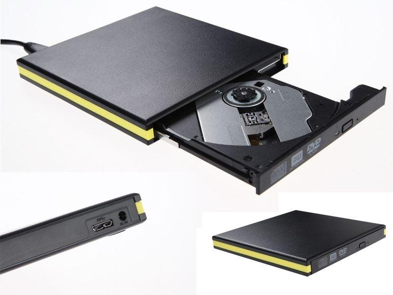 b84727eae527 Portable Slim External USB 3.0 DVD-RW CD-RW DVD-ROM Burner Drive for Laptop  PC