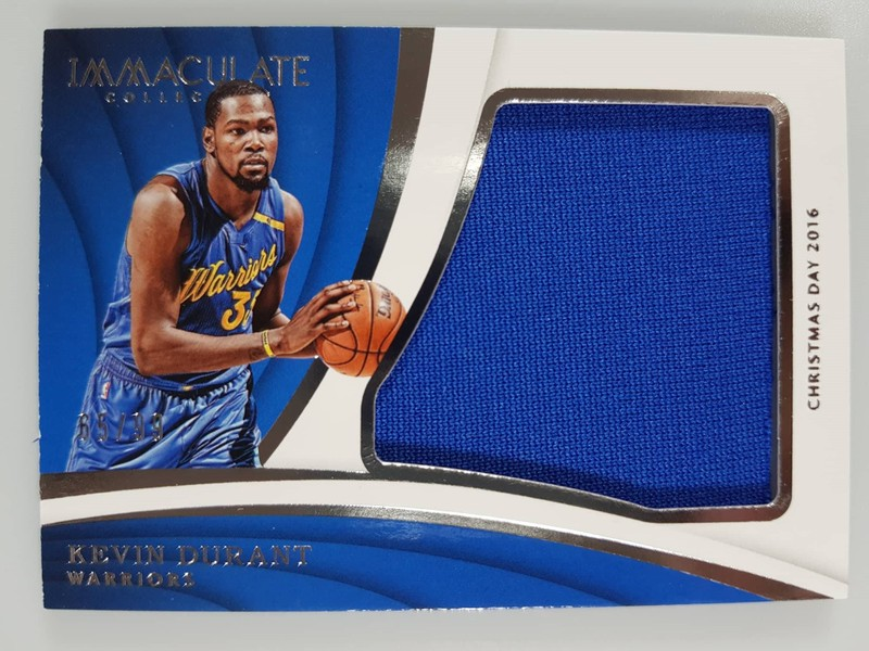 best sneakers a4434 22dc5 KEVIN DURANT - 2017-18 #/99 Panini Immaculate Christmas Day Jumbo Jersey
