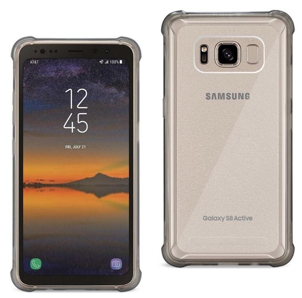 new product 7914f 10ec2 Galaxy S8 Active case bumper clear gel back cover