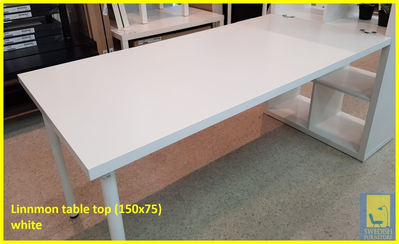 IKEA LINNMON TABLE TOP(150X75)(ONLY TABLE TOP), WHITE