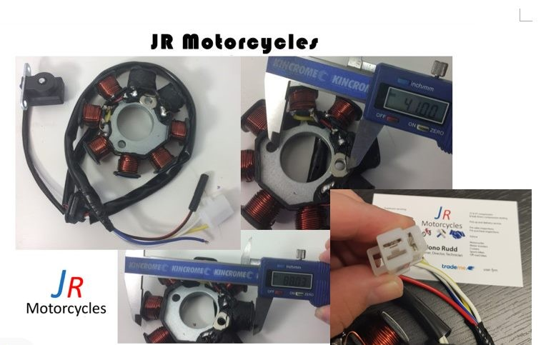 ignition stator magneto 8 coil pole 4 wires gy6 50 110 150ccignition stator magneto 8 coil pole 4 wires gy6 50 110 150cc scooter moped atv trade me