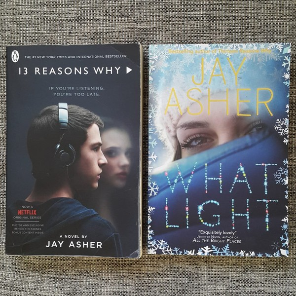 2 Jay Asher Books 13 Reasons Why What Light Trade Me