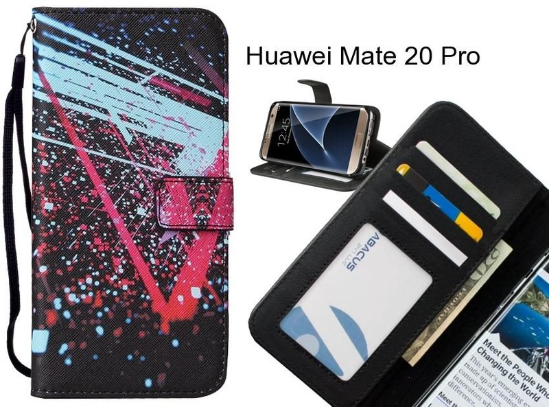 Huawei Mate 20 Pro case leather wallet case printed ID