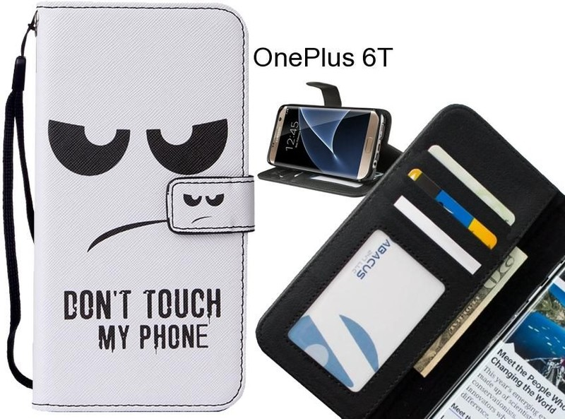 OnePlus 6T case leather wallet case printed ID