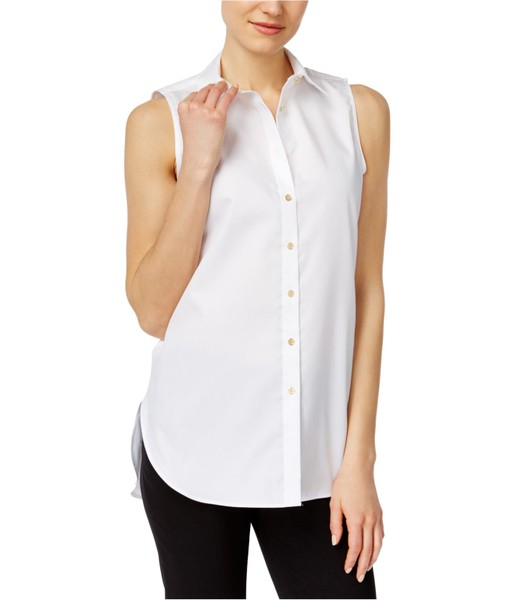 c7ee89a3 Calvin Klein Womens Rounded Hem Button Up Shirt | Trade Me