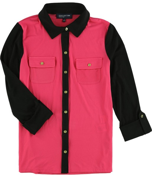 9465649f1 Jones New York Womens Colorblocked Button Up Shirt | Trade Me