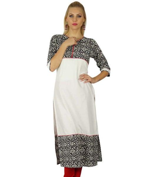 32dc2175854cce Bimba Women Indian Tunic 3/4 Sleeve Rayon custom Kurta Kurti Casual Summer  Top   Trade Me