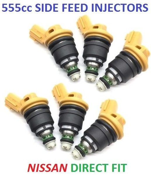 6 x 550cc 555cc Side Feed Fuel Injectors for NISSAN 300ZX Z32