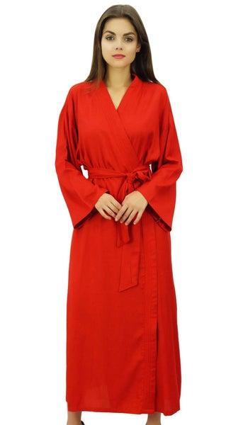 a6482ab2bc5 Bimba Womens Solid Rayon Robe Getting Ready Bride Bridesmaid Coverup Maxi  Robes